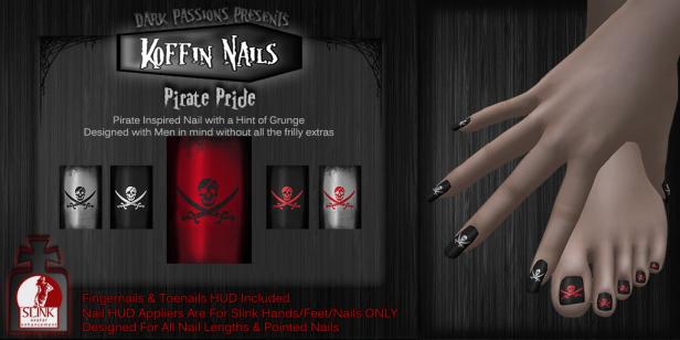 Dark Passions - Koffin Nails - Pirate Pride L$50