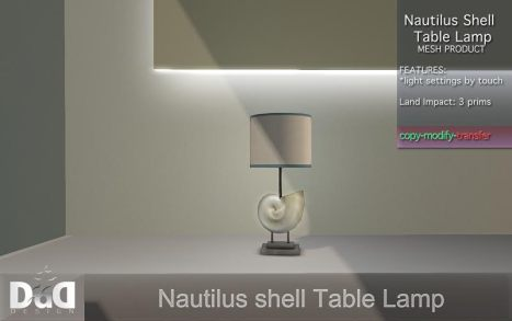 DaD - Nautilus Shell table Lamp 170L
