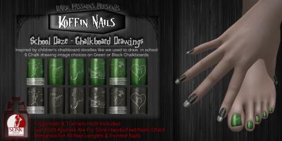 Dark Passions - Koffin Nails - School Daze - L$99