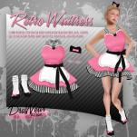 DruWear - Retro Waitress Pink - L125