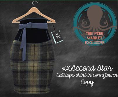 xXSecond Star - Calliope skirt cornflower - L$85