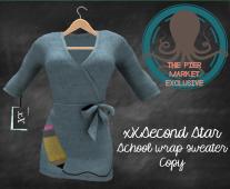 xXSecond Star - School Wrap Sweater - L$85