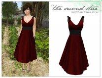 xXSecond Star - Vixen Dress in Apples & Chalkboard - L$120