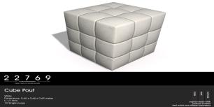 22769 ~ [bauwerk] Cube Pouf White - L$85