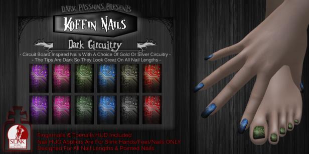DP - Koffin Nails - Dark Circuitry -L$99