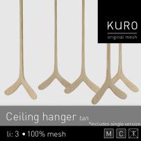 Kuro - Ceiling hanger tan -L$75