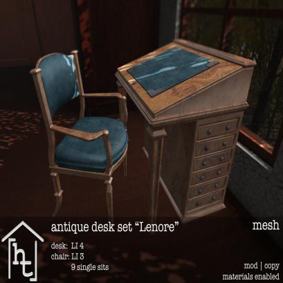 [ht_home] - antique desk set - Lenore - L$179