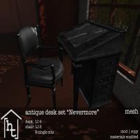 [ht_home] - antique desk set - Nevermore - L$179