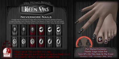 Koffin Nails - Nevermore Nails - L$80